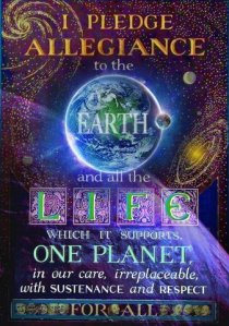 I pledge Alliagence to the Earth